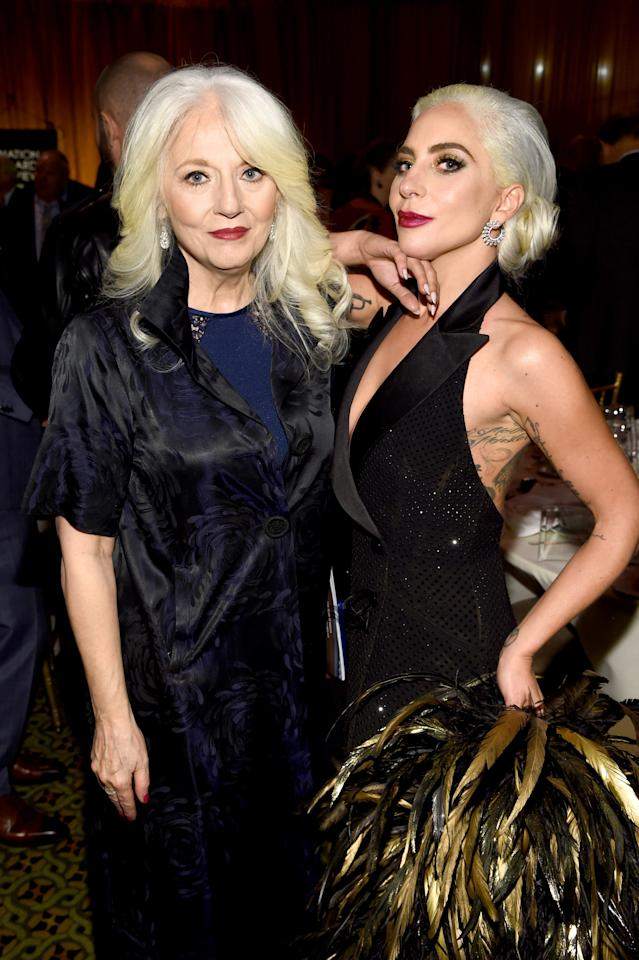 Cynthia Germanotta and Lady Gaga attend The National Board of Review Annual Awards Gala at Cipriani 42nd Street on January 8, 2019 in New York City.