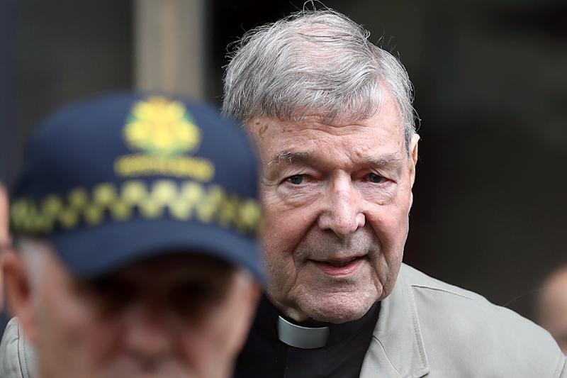 The actions of Cardinal George Pell, pictured here at an earlier hearing, had a 'profound impact' on the life of the boy who survived his abuse, the judge said (AFP Photo/CON CHRONIS)