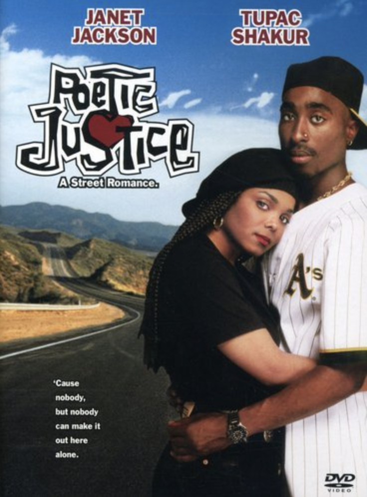 """<p>Directed by the late John Singleton, this film features Janet Jackson and Tupac Shakur and tells the story of a poet, hesitant to open up her heart after dealing with a recent loss and falling for an aspiring musician during a cross-country road trip.</p><p><a class=""""link rapid-noclick-resp"""" href=""""https://www.amazon.com/Poetic-Justice-Janet-Jackson/dp/B000SP3DGK?tag=syn-yahoo-20&ascsubtag=%5Bartid%7C10063.g.35083114%5Bsrc%7Cyahoo-us"""" rel=""""nofollow noopener"""" target=""""_blank"""" data-ylk=""""slk:STREAM IT HERE"""">STREAM IT HERE</a></p>"""