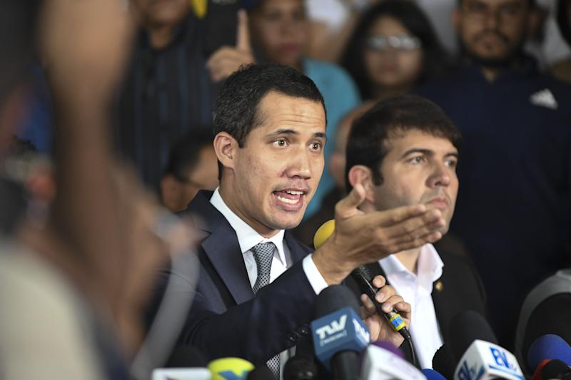 "(Bloomberg) -- Venezuela's government offered what it said was new proof of a series of planned coups led by National Assembly President Juan Guaido and more than two dozen other people, including many retired military and police officers.Showing videos and photographs of alleged plotters and accomplices on state television, Nicolas Maduro's regime said that for over 14 months it has tracked plans to kill him and overthrow his government.""We have been present at every meeting where they were trying to topple us,"" Information Minister Jorge Rodriguez said. The government has more than 56 hours of video footage of the coup plotters' meetings, he said.More than two dozen people, aided by ""Israeli, U.S. and Colombian terrorist agents,"" planned to block Caracas highways and seize military and intelligence units, Rodriguez said. Opposition leaders and retired military and police officers were among the planners, he said. Retired general Eduardo Paez was the leader of one operation, Rodriguez said.Plotters also mulled carrying out the murder of Socialist Party Vice President Diosdado Cabello and other government leaders, along with the bombing of telecommunications infrastructure and the seizure of arms located at the central bank's headquarters, Rodriguez said.On April 30, Guaido and his team appeared outside a Caracas airbase before dawn to announce an uprising, but the effort sputtered hours later when top military brass ignored the call and security forces took control of the streets. Some of Rodriguez's information released on Wednesday was related to the events of that day, while more was related to other alleged plans against the government.Plotters considered freeing retired General Raul Baduel, a former Defense minister under Hugo Chavez who is being held at intelligence service headquarters in Caracas, Rodriguez said. The discussions involved proclaiming Baduel president at the La Carlota military base, he said.Maduro said authorities ``captured a fascist gang of terrorists'' that planned a coup, including retired general Ramon Lozada Saavedra. ``We are capturing them one by one,'' Maduro said on state television.Stripped of ImmunityGuaido said on Tuesday during a National Assembly session that around 200 soldiers are detained in Venezuela for participating in alleged conspiracy plans. The Penal Forum NGO says the government holds 688 political prisoners.At least five military officers have been arrested in recent days, said Rocio San Miguel, president of the watchdog group Control Ciudadano.The pro-government National Constituent Assembly has stripped the legislative immunity of 13 opposition lawmakers for alleged links with the April 30 uprising. Several of the lawmakers have left the country, while others are hiding out in local embassies or safe houses.Public Prosecutor Tarek William Saab said earlier this month that of 34 people being investigated for the April 30 events, 17 had been arrested.(Updates with Maduro comments starting in eighth paragraph)To contact the reporters on this story: Alex Vasquez in Caracas Office at avasquez45@bloomberg.net;Fabiola Zerpa in Caracas Office at fzerpa@bloomberg.netTo contact the editors responsible for this story: Patricia Laya at playa2@bloomberg.net, Alex Vasquez, Jose OrozcoFor more articles like this, please visit us at bloomberg.com©2019 Bloomberg L.P."