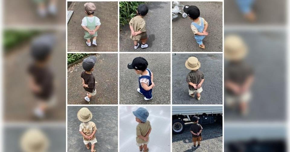 """<p>A one-year-old child has gone viral on the internet due to his tendency to strike an """"old man pose"""" every time he goes for a walk outside. (Photo courtesy of @naco_1217/Twitter)</p>"""