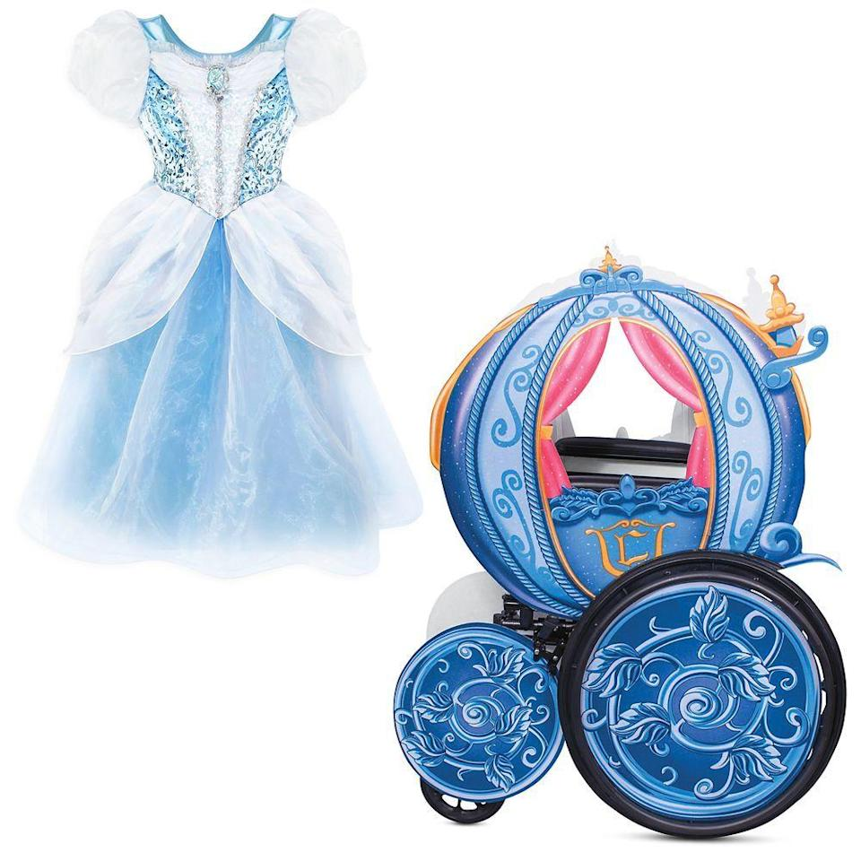 """<p>Any little princess would be lucky to head off to the ball in her own carriage — just remember to be home before midnight! Like the Incredibles costume, this Cinderella dress closes at the back and features a hidden opening in the front for tube access. It can be purchased with or without the coach wheelchair cover, and both are expected to ship in early September. </p><p><a class=""""link rapid-noclick-resp"""" href=""""https://go.redirectingat.com?id=74968X1596630&url=https%3A%2F%2Fwww.shopdisney.com%2Fcinderella-adaptive-collection-for-kids-pskidsadptvbndlecndy081020.html&sref=https%3A%2F%2Fwww.goodhousekeeping.com%2Fholidays%2Fhalloween-ideas%2Fg33632924%2Fadaptive-wheelchair-halloween-costumes%2F"""" rel=""""nofollow noopener"""" target=""""_blank"""" data-ylk=""""slk:SHOP NOW"""">SHOP NOW</a></p>"""
