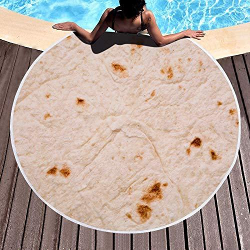 SEEKSEE Burrito Tortilla Beach Towel Blanket. (Photo: Amazon)