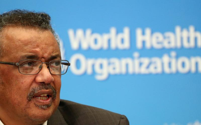 FILE PHOTO: Director-General of the World Health Organization (WHO) Tedros Adhanom Ghebreyesus speaks during a news conference after a meeting of the Emergency Committee on the novel coronavirus (2019-nCoV) in Geneva, Switzerland January 30, 2020. - Denis Balibouse/REUTERS
