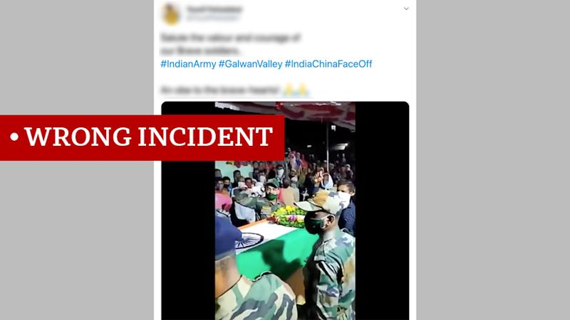 Screen grab of video labelled wrong incident
