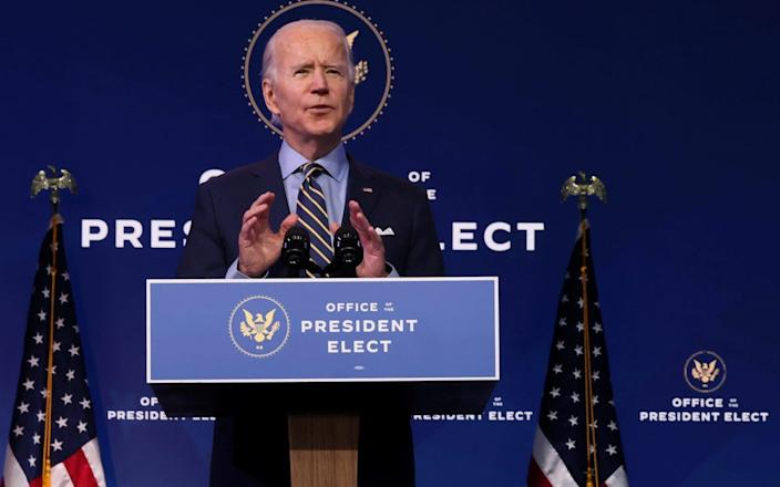 Joe Biden delivers remarks on national security and foreign policy at his transition headquarters in Wilmington - Reuters