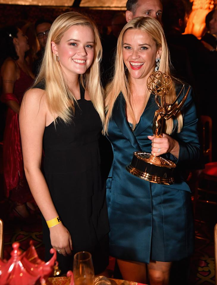 "<p>Reese Witherspoon, who won an Emmy for ""Big Little Lies,"" celebrated at an after-party with her lookalike daughter, Ava. It's far from the first time she's brought her doppelgänger as her red carpet date! </p>"