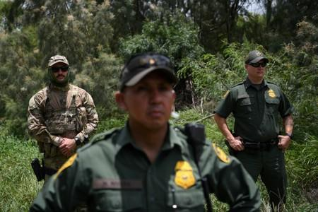 FILE PHOTO: U.S. Border Patrol agents are seen at the U.S.-Mexico border in Mission