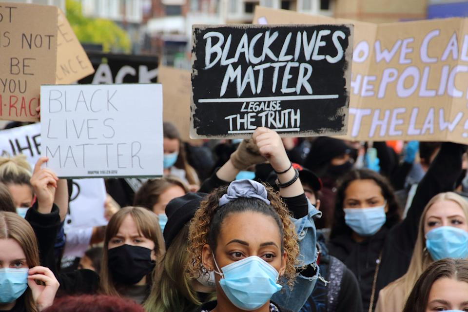 Hundreds Join Protest Against Police Brutality In Tottenham