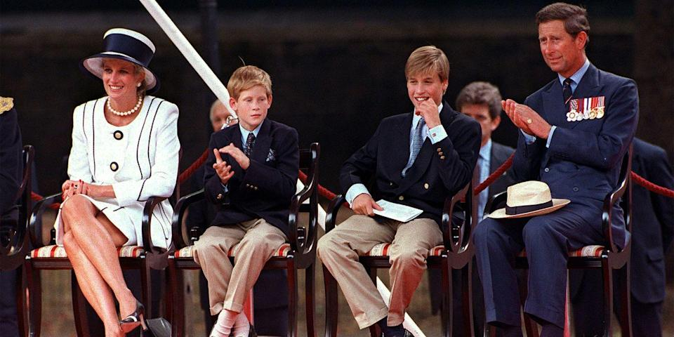 <p>The royal family watches a parade in London. </p>