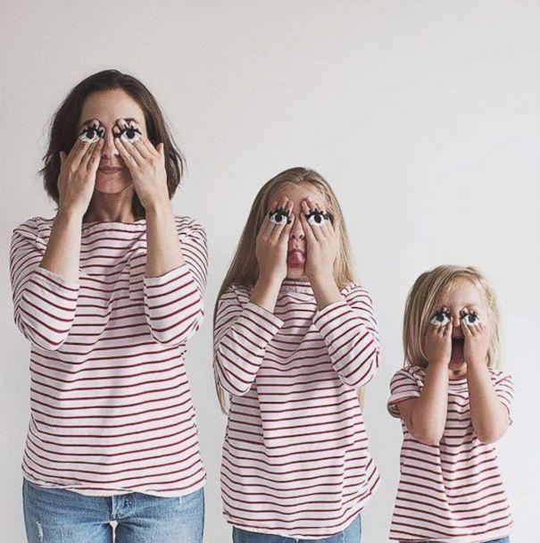 PHOTO: Dominique Davis does a silly face with her daughters Penny, 4, and Amelia, 11. (Dominique Davis/AllThatIsShe)