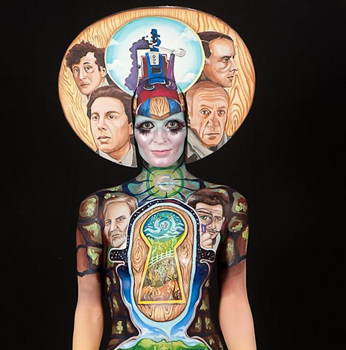 <p>The Brush and Sponge World Award went to this creation by Min ah Kim. (WBProductions/World Bodypainting Festival)<br></p>