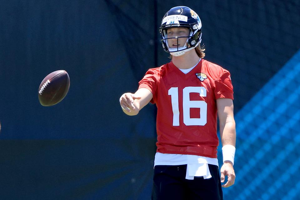 It's still early, but Trevor Lawrence is loving his early days with the Jaguars. (Photo by Sam Greenwood/Getty Images)