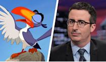 <p>Originally voiced by Rowan Atkinson in 'The Lion King', the role of Zazu has been given to fellow Brit, John Oliver. Best known as the host of political talk-show, 'Last Week Tonight With John Oliver', he's also appeared on British panels shows such as 'Mock The Week' and has enjoyed a long stand-up career. His first film role was as the ridiculously-named Dick Pants in 'The Love Guru' and recently voiced Vanity Smurf in the 'Smurfs' movies. </p>