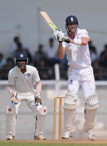 MUMBAI, INDIA - OCTOBER 31:  Kevin Pietersen of England bats during the second day of the opening tour match between India 'A' and England at the CCI (Cricket Club of India) ground on October 31, 2012 in Mumbai, India.  (Photo by Pal Pillai/Getty Images)