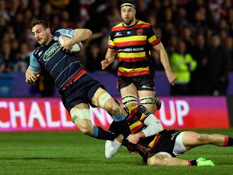 Warburton injured himself playing for Cardiff Blues (Getty)