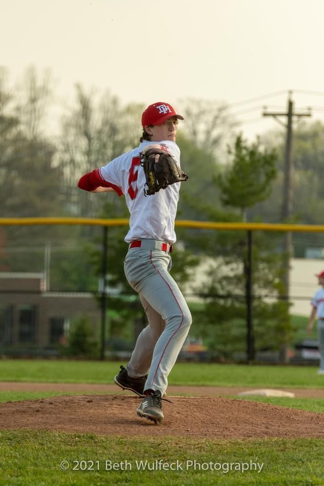 Walker Smallwood returned to the mound to pitch a final game after a rare bone cancer forced him to give it up. / Credit: Beth Wulfeck Photography