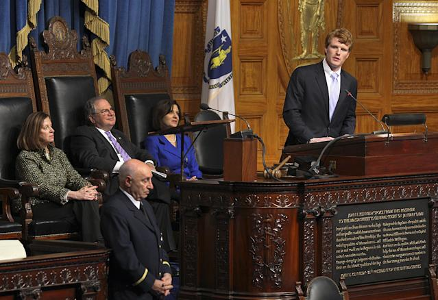 Joseph Kennedy III at the 50th anniversary of JFK's inauguration at the State House in Boston. (Photo: David L Ryan/Boston Globe via Getty Images)