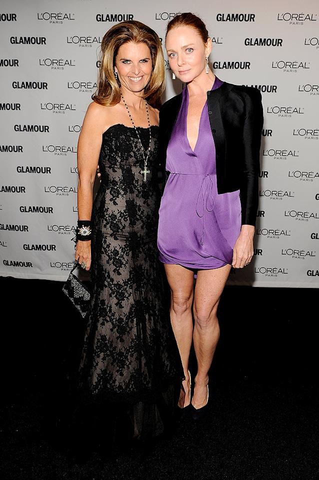 "California's First Lady, Maria Shriver, looked a little Madonna-esque in her lacy Monique Lhuillier gown, which she accessorized with a cross necklace and big hair. Meanwhile, designer Stella McCartney showed off her gams in a lavender mini. Hot or not? Larry Busacca/<a href=""http://www.wireimage.com"" target=""new"">WireImage.com</a> - November 9, 2009"