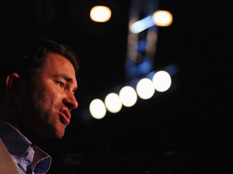 Eddie Hearn at the weigh-in (Getty)