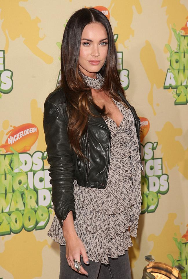 """<a href=""""http://movies.yahoo.com/movie/contributor/1808488000"""">Megan Fox</a> at the 22nd Annual Nickelodeon Kids' Choice Awards - 03/28/2009"""