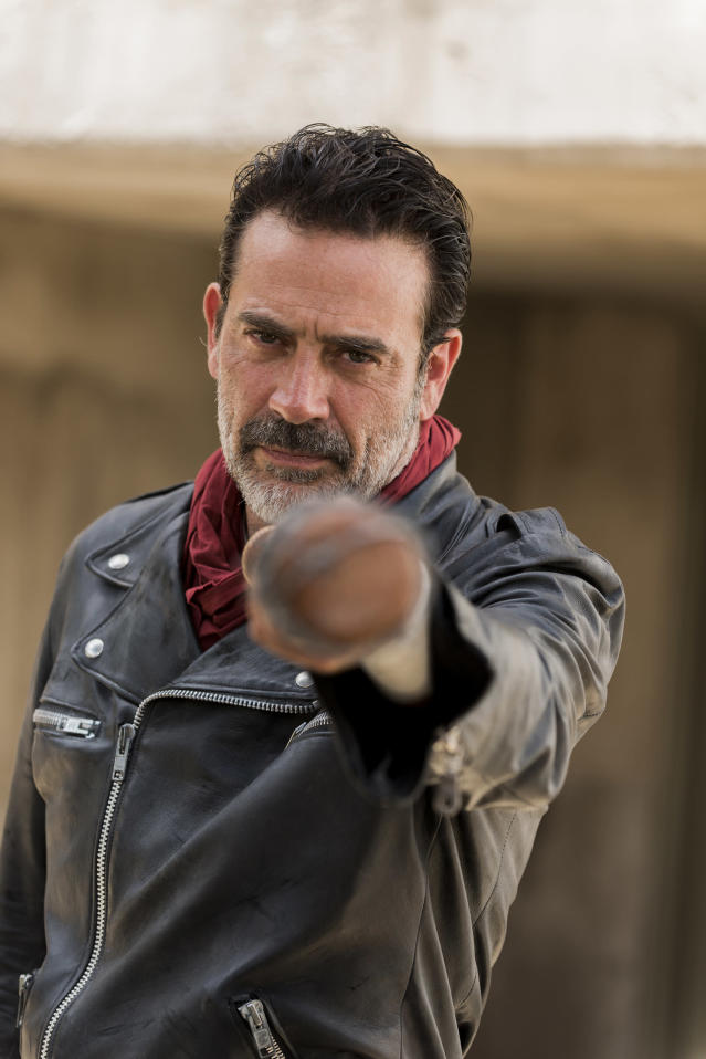 <p>Surprised to see him at number two on the list? We certainly don't need to make a case for why he's that high up; two words: Glenn and Abraham. But even with the dozens of other reasons why Negan is, and is likely to remain, one of the show's all-time biggest bad eggs, consider this: there is a purpose, a philosophy behind his dastardly deeds. The <i>Here's Negan</i> backstory revealed his leadership style to be the way he knew he could keep the greatest number of people alive, by being willing to kill some along the way. We're guessing Season 8 of the series might focus in on the same thing. It won't change the things he's done, but it certainly would put Negan's worldview into a new, thought-provoking perspective.<br>(Photo: AMC) </p>