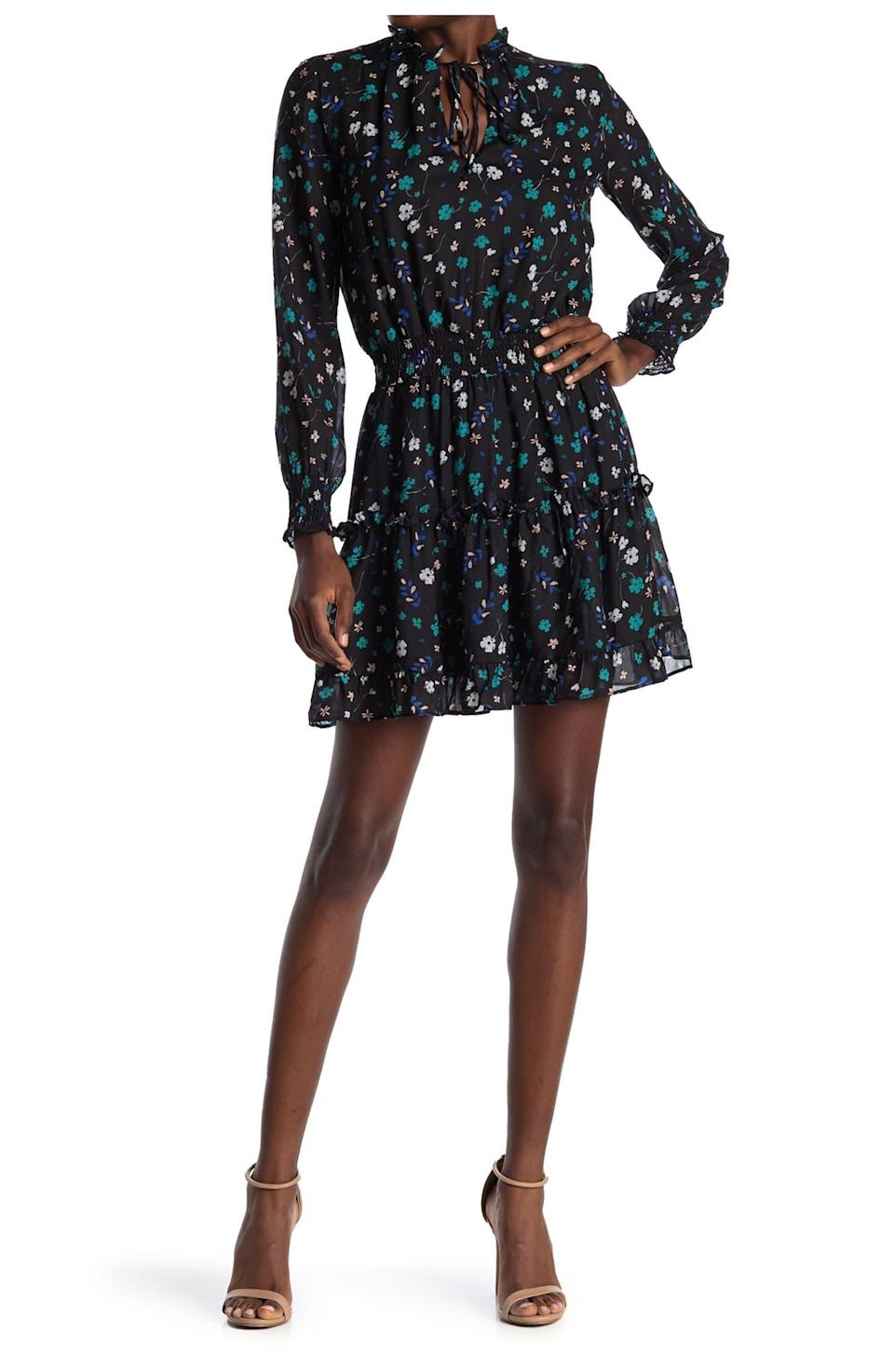 """<h2>NSR Emma Floral Print Ruffle Dress</h2><br>Good news — you don't have to give up your ruffles, your florals, or your smocked fits! This charming mini dress has all the romantic elements of a prairie dress but in a shorter length and a sheer fabric overlay that's perfect for evenings and date nights.<br><br><strong>The Hype:</strong> 4.1 out of 5 stars and 111 reviews on <a href=""""https://www.nordstromrack.com/s/nsr-emma-floral-print-ruffle-dress/5094166"""" rel=""""nofollow noopener"""" target=""""_blank"""" data-ylk=""""slk:NordstromRack.com"""" class=""""link rapid-noclick-resp"""">NordstromRack.com</a><br><br><strong>What They're Saying: </strong>""""So cute!! Was not sure if I should purchase this because of other reviews, but went on a limb and got it. Absolutely worth it, not too short or see through."""" — AshA, NordstromRack.com reviewer<br><br><strong>NSR</strong> Emma Floral Print Ruffle Dress, $, available at <a href=""""https://go.skimresources.com/?id=30283X879131&url=https%3A%2F%2Fwww.nordstromrack.com%2Fs%2Fnsr-emma-floral-print-ruffle-dress%2F5094166"""" rel=""""nofollow noopener"""" target=""""_blank"""" data-ylk=""""slk:Nordstrom Rack"""" class=""""link rapid-noclick-resp"""">Nordstrom Rack</a>"""