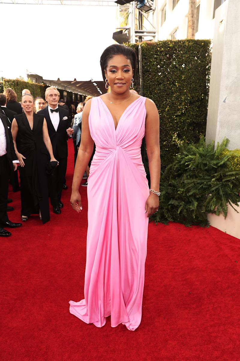 Tiffany Haddish arrives to the 77th Annual Golden Globe Awards held at the Beverly Hilton Hotel on January 5, 2020.