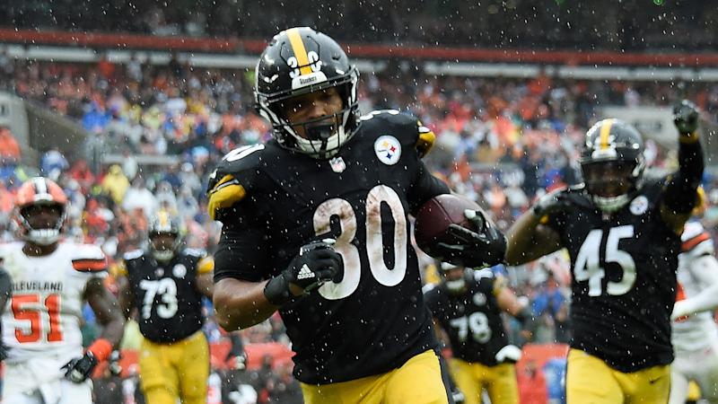James Conner ran for two touchdowns in Sunday's tie vs. the Browns. (Getty Images)