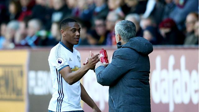 """The Manchester United boss praised the Frenchman for his showing at Turf Moor on Sunday and believes he is capable of becoming a """"very special player"""""""