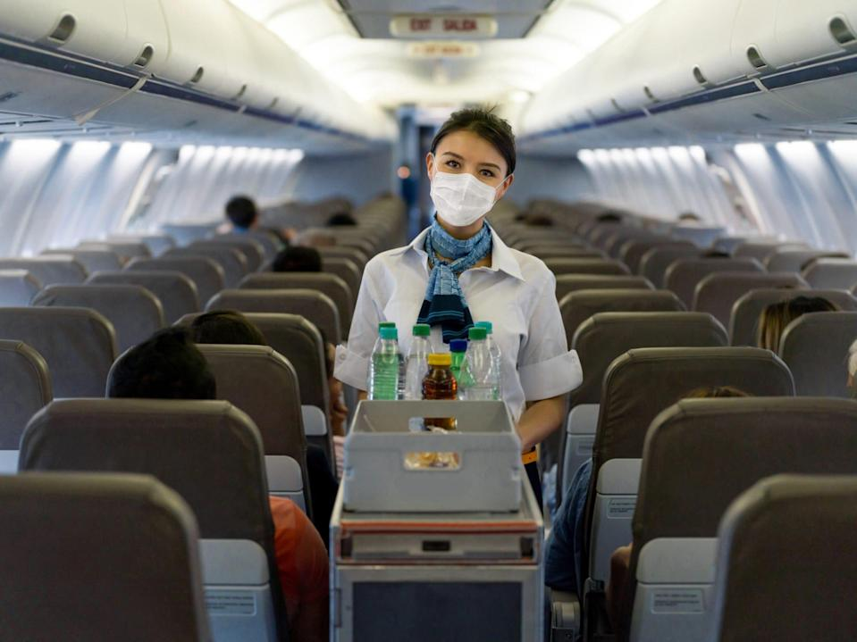 Don't get into arguments with flight attendants over COVID rules like how masks should be worn.