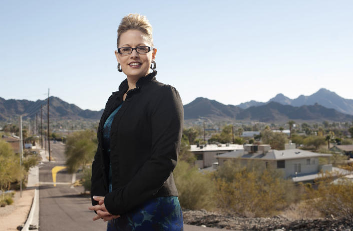 Kyrsten Sinema, member-elect of the United States House of Representatives from Arizona's 9th congressional district is photographed in the Sunnyslope neighborhood of Phoenix, Arizona Wednesday December 19, 2012. (Laura Segall for The Washington Post via Getty Images)