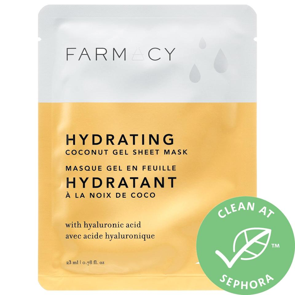 <p>Infused with coconut water, this bestselling <span>Farmacy Coconut Gel Sheet Mask</span> ($6) is an extra-moisturizing refresher for summer. (There's also cucumber extract inside that can be particular soothing on sun-stressed skin.)</p>