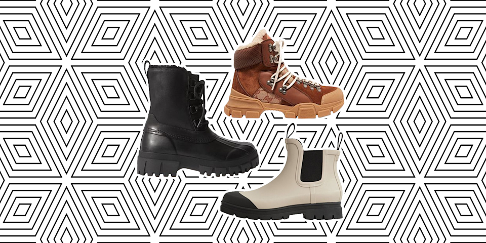 """<p>Snow boots are very much a hit-or-miss shoe. Often, you have to pick between a chunky, heavy pair that'll help your feet survive the slopes or opt for a stylish <a href=""""https://www.marieclaire.com/fashion/g33469548/best-ankle-boots-for-women/"""" rel=""""nofollow noopener"""" target=""""_blank"""" data-ylk=""""slk:heeled boot"""" class=""""link rapid-noclick-resp"""">heeled boot</a> with zero cushion and zero weather protection. (Have you ever arrived to the office or back home with toes numb from the cold? It's the worst.) But, we're here to tell you that this season, and for all the future seasons, you don't have to sacrifice comfort in the name of aprés ski. It's possible to find a snow boot that's not only chic enough for the slopes, but warm, waterproof, and versatile enough to be worn year-round in any setting. Since finding a cute pair of snow boots does take a <em>little </em>bit of digging, we went ahead and hunted for you. Ahead, 22 pairs that fit the fashion and function bill.</p>"""