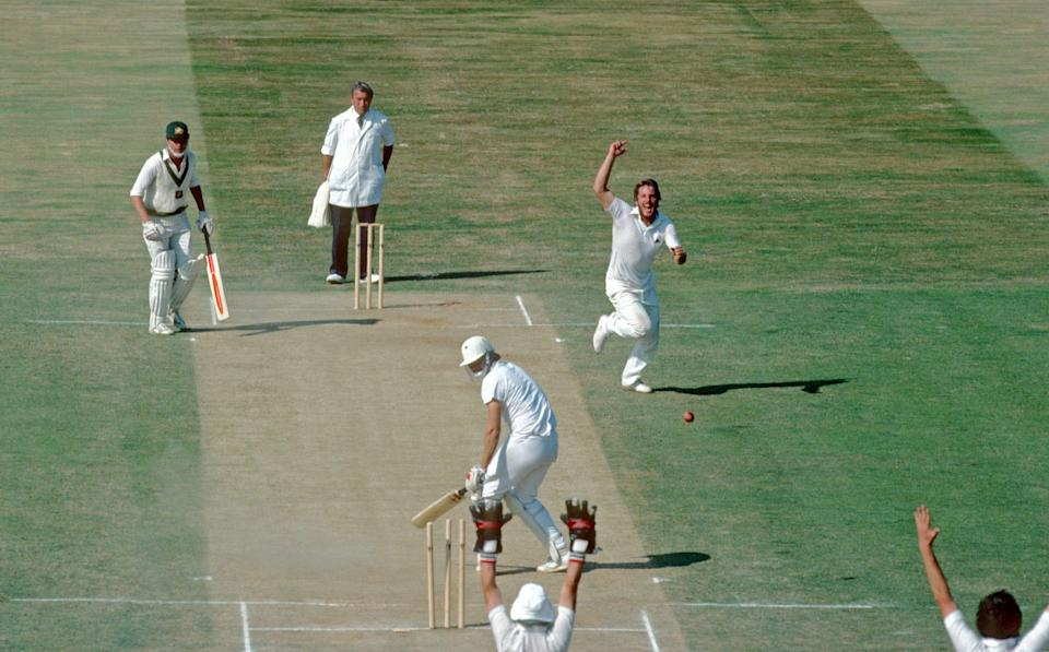 Ian Botham took five for one in that memorable five-over spell - PATRICK EAGAR/GETTY IMAGES