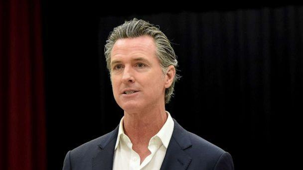 PHOTO: Governor Gavin Newsom helds a press conference to talk about the nation'u2019s largest rent relief program to help low-income Californians in Bell Gardens, Calif. on July 14, 2021. (MediaNews Group via Getty Images)
