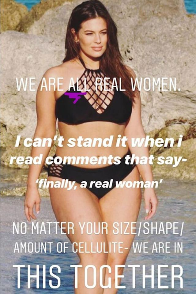 Graham speaks out. (Photo: Via Ashley Graham Instagram Stories)