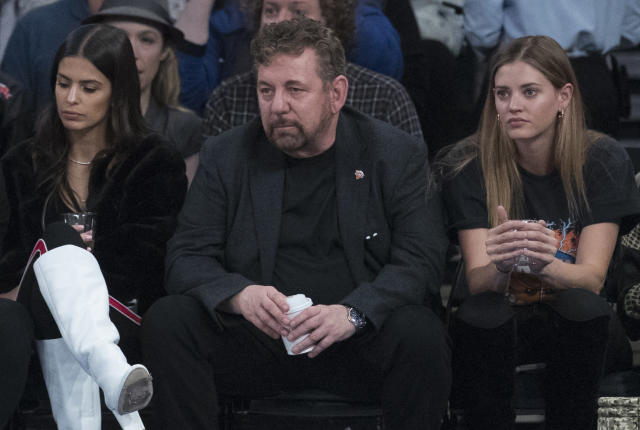 Knicks owner James Dolan confronted a fan after Saturday's game. (AP Photo/Mary Altaffer, File)