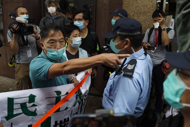 Protests have resumed in Hong Kong over China's efforts to take more control over the territory. (AP Photo/Kin Cheung)