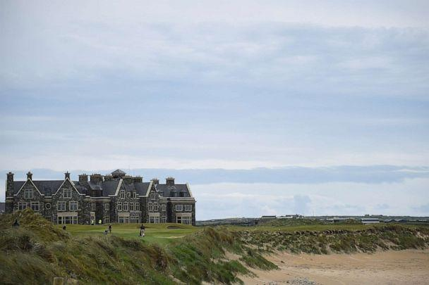 PHOTO: In this May 28, 2019, file photo, people play golf at President Donald Trump's Doonbeg Golf Club in the County Clare village of Doonbeg, Ireland. (Clodagh Kilcoyne/Reuters, FILE)