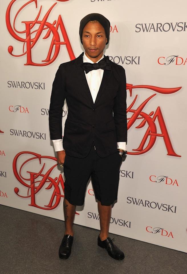 NEW YORK, NY - JUNE 04:  Pharrell Williams attends the 2012 CFDA Fashion Awards at Alice Tully Hall on June 4, 2012 in New York City.  (Photo by Larry Busacca/Getty Images)