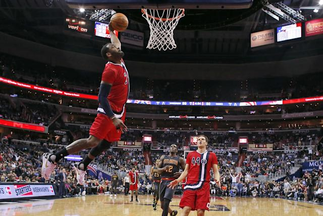 John Wall and the Wizards will be looking for payback after the Hawks eliminated them from the 2015 playoffs. (AP)