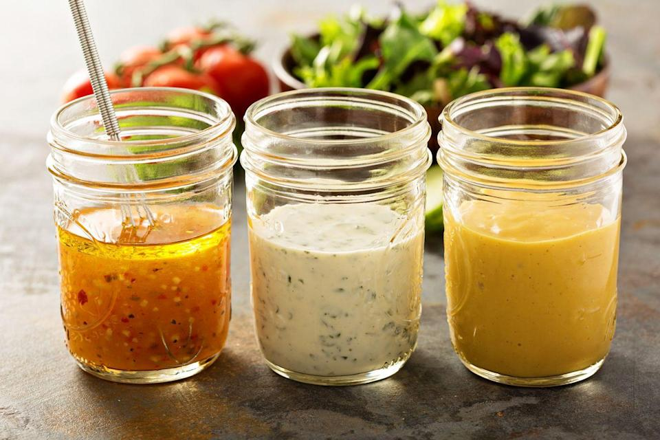"""<p>What makes reduced-fat salad dressings a cardiac crime is that they're actually hidden sources of sugar and salt, says Fisher. </p><p>""""When fat is removed, sugar is typically added to maintain the taste and texture,"""" she says. Just because it's low in fat or calories, it doesn't mean it's healthy.</p><p>""""I recommend my clients to look beyond <u><a href=""""https://www.prevention.com/weight-loss/diets/a19804935/macros-diet/"""" rel=""""nofollow noopener"""" target=""""_blank"""" data-ylk=""""slk:macronutrients"""" class=""""link rapid-noclick-resp"""">macronutrients</a></u>. Even when macros fall perfectly in line with what's traditionally recommended for fat, carbohydrates and protein levels, a diet can fall short on nutrition,"""" Fisher says. """"For example, are the carbohydrate sources highly-processed and low in <a href=""""https://www.prevention.com/food-nutrition/a20516445/high-fiber-diet-plan/"""" rel=""""nofollow noopener"""" target=""""_blank"""" data-ylk=""""slk:fiber"""" class=""""link rapid-noclick-resp"""">fiber</a>? Is the protein lean? Is the fat heart-healthy?""""</p>"""