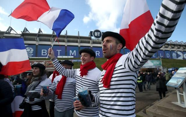 Murrayfield hosted France and Scotland fans on March 7 (PA)