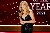 <p>Connie Britton presents during this year's CMT Artists of the Year celebration on Oct. 13 in Nashville, Tennessee. </p>