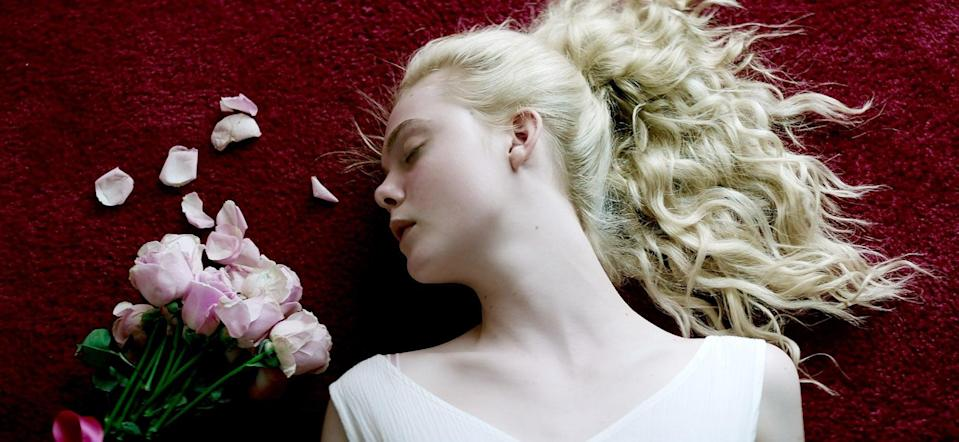 """<p>Elle Fanning's performance as a budding fashionista who becomes increasingly dangerous as her fame level rises will make you realize that the former child star is all grown up. Her character's descent into darkness isn't just compelling, though; it's also beautifully rendered thanks to the movie's standout cinematography. </p> <p><a href=""""https://www.amazon.com/gp/video/detail/B01GU8CYHM/ref=atv_dl_rdr"""" class=""""link rapid-noclick-resp"""" rel=""""nofollow noopener"""" target=""""_blank"""" data-ylk=""""slk:Watch The Neon Demon on Amazon Prime now."""">Watch <b>The Neon Demon</b> on Amazon Prime now.</a></p>"""