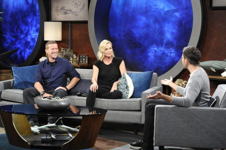 Cinematographer Andy Casagrande, Charlize Theron, and Eli Roth on Shark After Dark