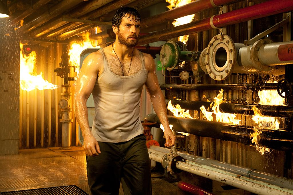"Best cleavage: Henry Cavil, ""Man of Steel"" <br />(Photo: Warner Bros. Pictures)"