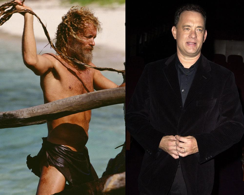 """<p>Hanks shed 50 pounds to portray a character stuck on a deserted island, and he looked to his character's surroundings for a painfully realistic weight loss. """"You know coconuts? Think you can eat a lot of coconuts? Well, let me tell you, it's a natural laxative,"""" he told <i><a rel=""""nofollow"""" href=""""http://www.ew.com/article/2000/12/15/making-cast-away"""">Entertainment Weekly</a></i>. """"So just put two and two together there. Take a coconut, drink all the milk out of it, and then eat all the insides, and you tell me how you feel after an hour and a half…"""" (Photos: Everett/Getty)</p>"""