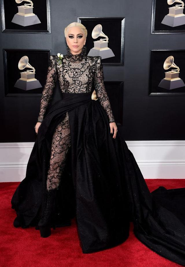 <p>Lady Gaga attends the 60th Annual Grammy Awards at Madison Square Garden in New York on Jan. 28, 2018. (Photo: Jamie McCarthy/Getty Images) </p>